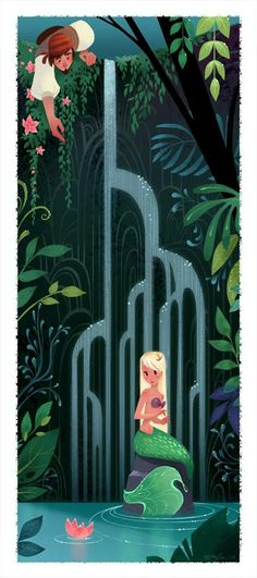 Beautiful Disney concept art by Brittney Lee! Similar to Mary Blair Mary Blair, Art Disney, Disney Kunst, Disney Concept Art, Disney Artists, Art And Illustration, Mermaid Illustration, Fantasy Kunst, Fantasy Art