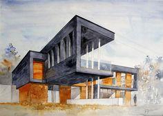 by neko-gato on deviantART – Architektur Architecture Drawing Sketchbooks, Architecture Concept Drawings, Landscape Architecture Drawing, Art And Architecture, Architect Drawing, Interior Design Sketches, Phone Cases, Deviantart, Building Sketch