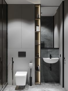 Contemporary Bathroom Designs, Bathroom Design Luxury, Modern Bathroom Design, Beige Bathroom, Laundry In Bathroom, Spanish Style Bathrooms, Bathroom Design Inspiration, Toilet Design, Bathroom Styling