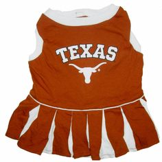 """-""""Texas Longhorns Cheerleader Outfit for Dogs"""""""