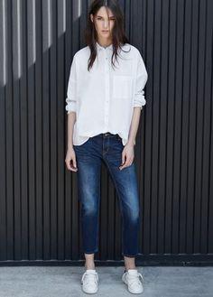 Cropped slim-fit nancy jeans   MANGO