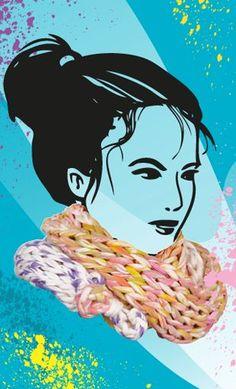 Marabu Fashion-Spray http://marabu.com/k/ilf #Marabu #IloveFashion #Schal #Textilfarbe #Spray #Winter