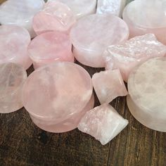 Rose Quartz Plugs These would look cute when you want to dress up and look girly!!