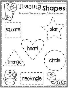 Free printable shapes worksheets for toddlers and preschoolers. Preschool shapes activities such as find and color, tracing shapes and shapes coloring pages. Preschool Centers, Preschool Learning Activities, Free Preschool, Preschool Printables, Toddler Learning, Preschool Activities, Preschool Shapes, Learning Games, Shape Worksheets For Preschool