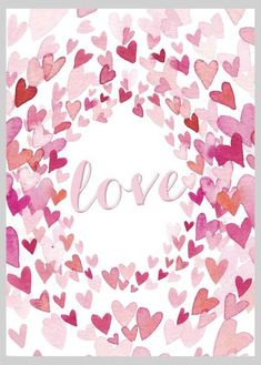 Valentines Watercolor, Valentines Day Drawing, Valentines Day Wishes, Valentines Art, Saint Valentine, Valentine Wreath, Valentine Cards, Watercolor Heart, Wreath Watercolor