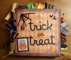 HALLOWEEN Premade Paper Bag Scrapbook Album