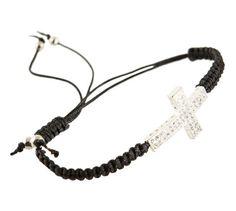 Bold Sparkle Cross Bracelet = love