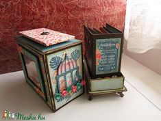 Díszdoboz, albummal (StoneHEArt) - Meska.hu Decorative Boxes, Diy, Home Decor, Decoration Home, Bricolage, Room Decor, Do It Yourself, Home Interior Design, Homemade