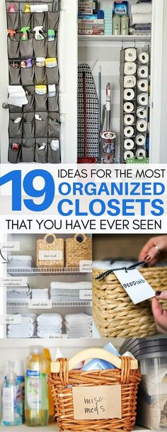This is EXACTLY what I needed to motivate me to organize my linen and bathroom closets! organization ideas for the home, organization hacks, organizing ideas, organizing cleaning supplies, organizing small bathroom Home Organisation Hacks Organisation Hacks, Organizing Hacks, Storage Hacks, Organizing Your Home, Storage Organization, Cleaning Supply Organization, Organizing Small Closets, Small Home Organization, Storage Solutions