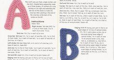 Esta tan completo y bello este alfabeto para decorar nuestro tejidos con iniciales!                                       A tejer y ser fel...