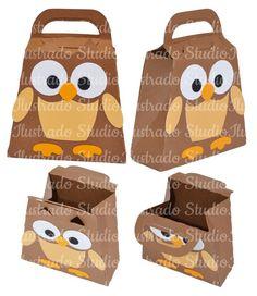 Silhouette, Cute Owl Bag, Sacolinha de Corujinha, Projeto 3D, Project 3D