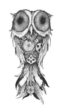 Clockwork owl by Aaron-R-Morse.deviantart.com on @deviantART