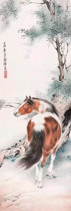 #chinesepaintinghorse #brushpainting #chinesebrushpainting