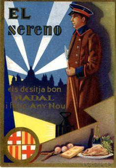 El Sereno els desitja Bon Nadal i feliç Any Nou. Any 1932. (Fons Joan Amades)