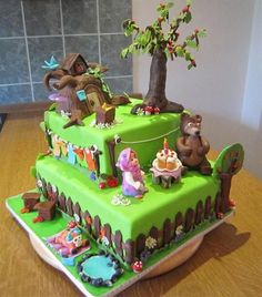 Masha & the bear custom cake