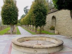 Awesome fountain for front circle.  Greystone Estate, Photograph © Karl Gercens