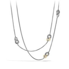Belmont Curb Link Necklace with 18K Gold