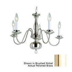 Bel Air Lighting�5-Light Back to Basics Polished Brass Chandelier