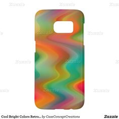 Cool Bright Colors Retro Chic Zigzag Waves Pattern Samsung Galaxy S7 Case