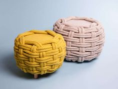 Sumptuously Knit Seating - could try covering old furniture, perhaps with thick cotton rope.