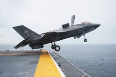 The F-35 Lightning II taking off from the USS WASP (LHD-1).