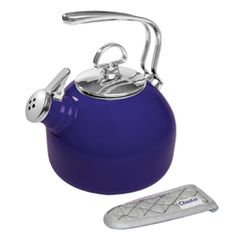 Chantal's - Enamel-On-Steel Classic Teakettle (1.8 Qt.) - This is a very nice tea kettle and it has a unique harmonica whistle that is very pleasant to hear when making your tea.