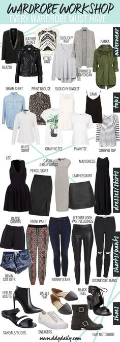 Ultimate capsule wardrobe for 2015 - http://dropdeadgorgeousdaily.com/
