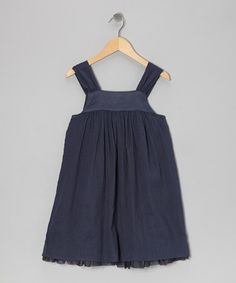 Take a look at this Blue-Gray Ballerina Romper - Toddler & Girls by Wheat on #zulily today!
