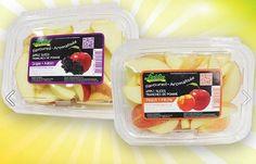 Sono mele, ma sanno di pesca o d'uva: sono le Flavored Apple SlicesHanno l'aspetto di una mela fresca a fette, la consistenza è quella delle mele, se le mordi sono croccanti come le mele, ma... sanno di pesca... o d'uva!. E' l'ultimo prodotto di IV gamma nato in casa Freshline Foods - una delle maggiori aziende canadesi di frutta e verdura pronta al consumo