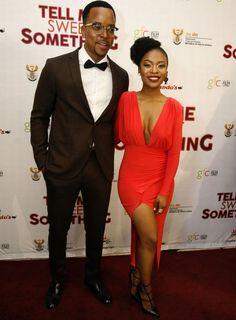 Maps introduces Nomzamo to his parents at movie premiere (PHOTOS) - Sowetan LIVE