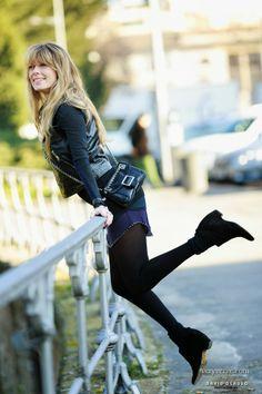 veryverve: Isabel Marant dress layering & leather vest.