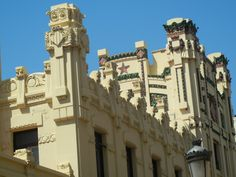 Estacio Nord (North Station) - This is a beautifully detailed building across from Plaza de Toros in #Valencia.