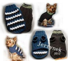 Návod jak na psí svetr Popis na různé velikosti