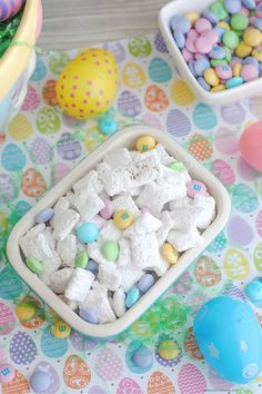 Simple and Delicious Easter Puppy Chow Recipe. Perfect for leaving out as Bunny Bait for the Easter Bunny or to fill Easter eggs and baskets.