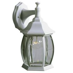 Hampton Bay - Outdoor Lantern With Clear Bevelled Glass - 3090 WH - Home Depot Canada