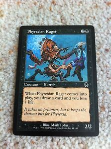 Deckmaster Magic the Gathering Trading Cards Phyrexian Rager Creature 2001