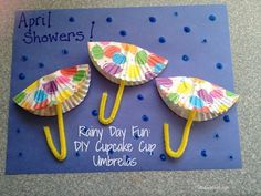 Rainy Day Fun DIY Cupcake Cup Umbrellas