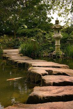 Stone Path at The Japanese Gardens in Kaiserslautern, Germany | btt