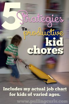 Giving kid chores is a win win. Come find out my 5 tips to figure out the best jobs for each child at your house, and they might even get done! :)