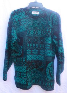 Vintage Woman's Sweater Alfred Dunner Green and by VintageElations