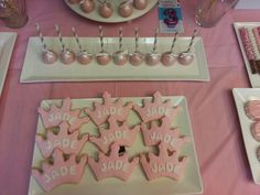 Princess sugar cookies, cakepops