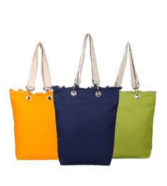 Colorful canvas bags