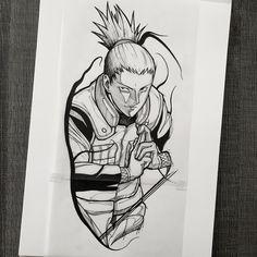 Tatoo Naruto, Naruto Sasuke Sakura, Naruto Art, Anime Naruto, Manga Anime, Shikamaru Wallpaper, Wallpaper Naruto Shippuden, Naruto Wallpaper, Weird Tattoos