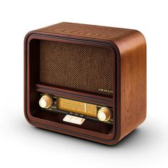 Belle Epoque 1901 Vintage Retro Radio AM FM USB - An attractive device for nostalgia lovers: the Auna Belle Epoque 1901 is a stylish retro radio which impresses with both its outward appearance as Radio Design, Speaker Design, Vintage Music, Retro Vintage, Vintage Items, Radio Record Player, Gadget, Muebles Shabby Chic, Radio Wave