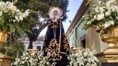 Virgen Dolorosa, antes de salir en la procesión del Santo Entierro de Tegucigalpa