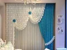 Best curtain ideas, stunning curtains designs 2018 //pranavi tv // - Decoration landscaping architectural and artistic designs & decoration videos No Sew Curtains, Home Curtains, How To Make Curtains, Modern Curtains, Rod Pocket Curtains, Colorful Curtains, Window Curtains, Indien Design, Latest Curtain Designs