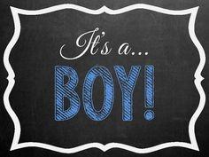 It's A Boy or It's A Girl Chalkboard Photo Photo  by MMasonDesigns, $20.00
