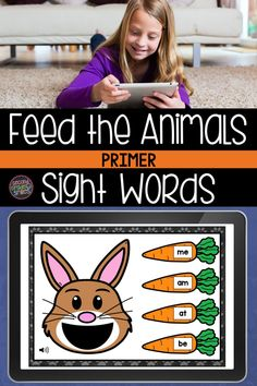 Looking for digital word work centers for high frequency words? Practice sight words digitally with Boom Cards! Students will enjoy feeding the animals as they practice reading primer sight words. Sound autoplays on each card instructing the player to feed the animal a given sight word. The player then drags and drops the food item with the correct word into the animal's mouth and submits the answer. Students will ask to play again and again! Teaching Second Grade, Second Grade Teacher, 2nd Grade Classroom, Teaching Vocabulary, Teaching Phonics, Teaching Kindergarten, Word Work Games, Word Work Centers, Sight Word Practice