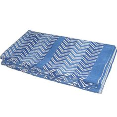 Blue Bed Sheet India Famous Handmade Katha Print Queen Size