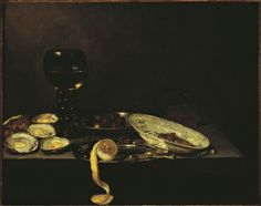 Velde, Jan Jansz van de - Натюрморт с устрицами, 1640-62, 49,2 cm x 61,2 cm, Холст, масло Музей Франса Халса в Харлеме